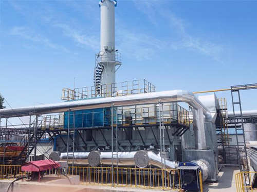 6万风量沸石转轮吸附+RTO用于塑料废气治理