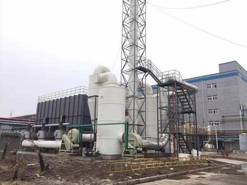 6万风量沸石转轮吸附+CO催化燃烧设备